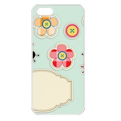 Buttons & Ladybugs Cute Apple iPhone 5 Seamless Case (White)