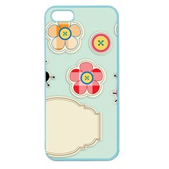 Buttons & Ladybugs Cute Apple Seamless iPhone 5 Case (Color)