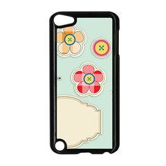 Buttons & Ladybugs Cute Apple iPod Touch 5 Case (Black)