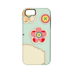 Buttons & Ladybugs Cute Apple iPhone 5 Classic Hardshell Case (PC+Silicone)