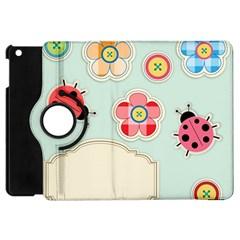 Buttons & Ladybugs Cute Apple iPad Mini Flip 360 Case