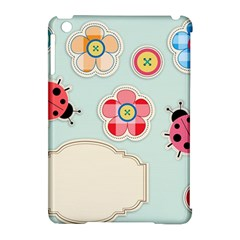 Buttons & Ladybugs Cute Apple iPad Mini Hardshell Case (Compatible with Smart Cover)