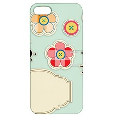 Buttons & Ladybugs Cute Apple iPhone 5 Hardshell Case with Stand