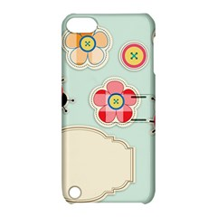Buttons & Ladybugs Cute Apple iPod Touch 5 Hardshell Case with Stand