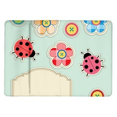 Buttons & Ladybugs Cute Samsung Galaxy Tab 10.1  P7500 Flip Case