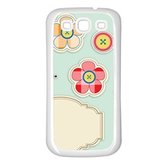 Buttons & Ladybugs Cute Samsung Galaxy S3 Back Case (White)