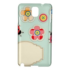 Buttons & Ladybugs Cute Samsung Galaxy Note 3 N9005 Hardshell Case