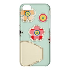Buttons & Ladybugs Cute Apple Iphone 5c Hardshell Case