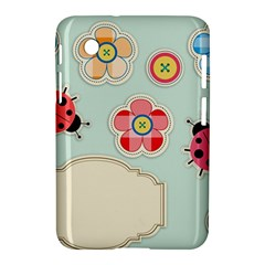 Buttons & Ladybugs Cute Samsung Galaxy Tab 2 (7 ) P3100 Hardshell Case
