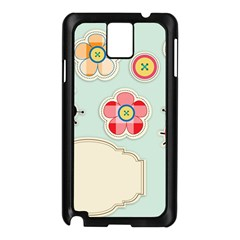 Buttons & Ladybugs Cute Samsung Galaxy Note 3 N9005 Case (Black)