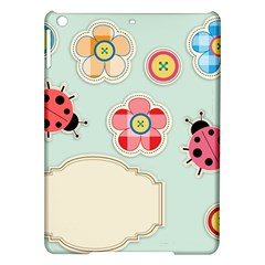 Buttons & Ladybugs Cute iPad Air Hardshell Cases
