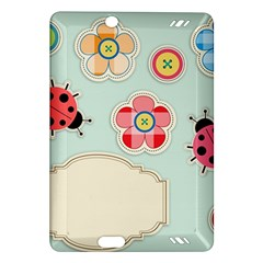 Buttons & Ladybugs Cute Amazon Kindle Fire HD (2013) Hardshell Case