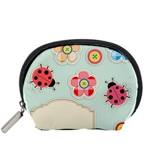 Buttons & Ladybugs Cute Accessory Pouches (small)