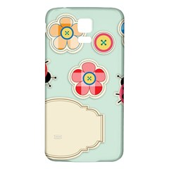 Buttons & Ladybugs Cute Samsung Galaxy S5 Back Case (White)