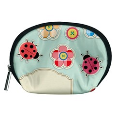 Buttons & Ladybugs Cute Accessory Pouches (medium)