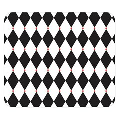 Plaid Triangle Line Wave Chevron Black White Red Beauty Argyle Double Sided Flano Blanket (small)