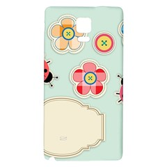 Buttons & Ladybugs Cute Galaxy Note 4 Back Case