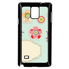 Buttons & Ladybugs Cute Samsung Galaxy Note 4 Case (Black)