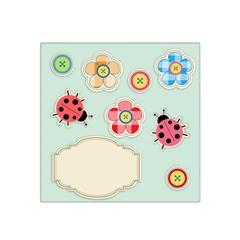 Buttons & Ladybugs Cute Satin Bandana Scarf