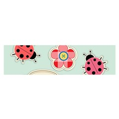 Buttons & Ladybugs Cute Satin Scarf (Oblong)