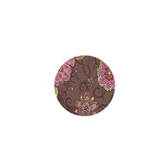 Ice Cream Flower Floral Rose Sunflower Leaf Star Brown 1  Mini Buttons