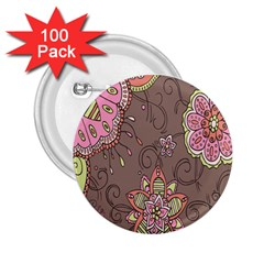 Ice Cream Flower Floral Rose Sunflower Leaf Star Brown 2.25  Buttons (100 pack)