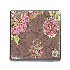 Ice Cream Flower Floral Rose Sunflower Leaf Star Brown Memory Card Reader (Square)