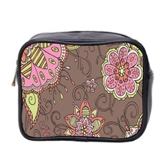 Ice Cream Flower Floral Rose Sunflower Leaf Star Brown Mini Toiletries Bag 2-Side