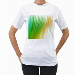 Folded Paint Texture Background Women s T Shirt (white) (two Sided)