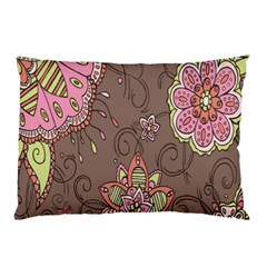 Ice Cream Flower Floral Rose Sunflower Leaf Star Brown Pillow Case (two Sides)