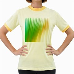 Folded Paint Texture Background Women s Fitted Ringer T Shirts