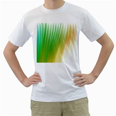 Folded Paint Texture Background Men s T-Shirt (White) (Two Sided)