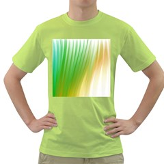 Folded Paint Texture Background Green T-Shirt