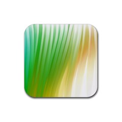 Folded Paint Texture Background Rubber Square Coaster (4 pack)