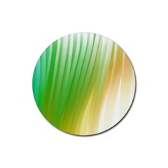 Folded Paint Texture Background Rubber Round Coaster (4 Pack)