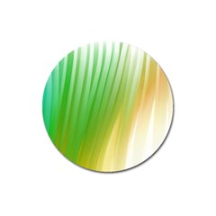 Folded Paint Texture Background Magnet 3  (Round)