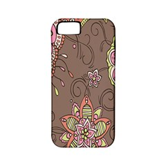 Ice Cream Flower Floral Rose Sunflower Leaf Star Brown Apple iPhone 5 Classic Hardshell Case (PC+Silicone)