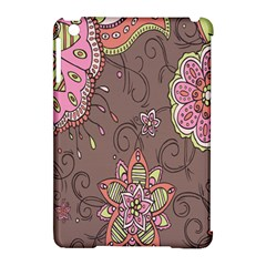 Ice Cream Flower Floral Rose Sunflower Leaf Star Brown Apple iPad Mini Hardshell Case (Compatible with Smart Cover)
