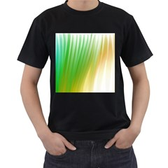 Folded Paint Texture Background Men s T-Shirt (Black) (Two Sided)