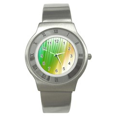 Folded Paint Texture Background Stainless Steel Watch