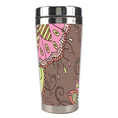 Ice Cream Flower Floral Rose Sunflower Leaf Star Brown Stainless Steel Travel Tumblers
