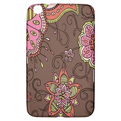 Ice Cream Flower Floral Rose Sunflower Leaf Star Brown Samsung Galaxy Tab 3 (8 ) T3100 Hardshell Case