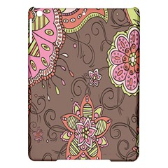 Ice Cream Flower Floral Rose Sunflower Leaf Star Brown iPad Air Hardshell Cases
