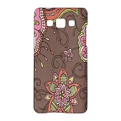 Ice Cream Flower Floral Rose Sunflower Leaf Star Brown Samsung Galaxy A5 Hardshell Case