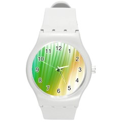 Folded Paint Texture Background Round Plastic Sport Watch (M)
