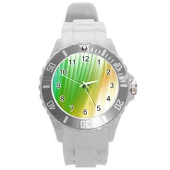 Folded Paint Texture Background Round Plastic Sport Watch (L)