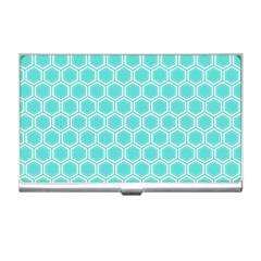 Plaid Circle Blue Wave Business Card Holders