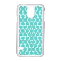Plaid Circle Blue Wave Samsung Galaxy S5 Case (White)