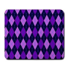 Plaid Triangle Line Wave Chevron Blue Purple Pink Beauty Argyle Large Mousepads