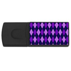 Plaid Triangle Line Wave Chevron Blue Purple Pink Beauty Argyle Usb Flash Drive Rectangular (4 Gb)